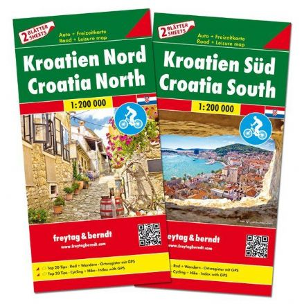 Croatia North & South 2 Map Set - Freytag & Berndt 1:200,000